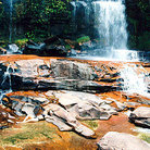 Picture - Waterfall on La Gran Sabana in Parque Nacional Canaima (Canaima National Park).