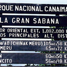 Picture - Entrance sign to Parque Nacional Canaima (Canaima National Park) and La Gran Sabana.