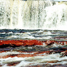 Picture - Close up view of waterfall, Salto Yuruan , on La Gran Sabana in Parque Nacional Canaima (Canaima National Park).