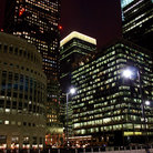 Picture - Night view of Canary Wharf.