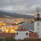 Picture - An evening view over the coastal town of Candelaria.
