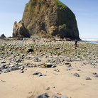 Picture - Rocky path leads to Haystack Rock, Cannon Beach.