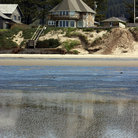 Picture - House on shore of Cannon Beach, Oregon.