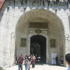Picture - Tourists leaving the main gate Topkapi Palace in Istanbul.