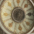 Picture - Pictured wall with gold and copper inlays in the Topkapi Palace in Istanbul.