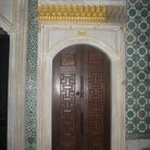 Picture - Wooden door in Topkapi Palace in Istanbul.