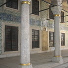 Picture - Decorated Courtyard of the Topkapi Palace in Istanbul.