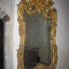 Picture - Gold framed mirror in Topkapi Palace in Istanbul.