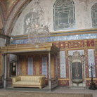 Picture - The Sultan's throne in Topkapi Palace in Istanbul.
