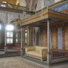 Picture - Detail of the large Sultan's throne in Topkapi Palace in Istanbul.
