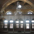 Picture - Large crystal chandelier in the Imperial Hall in Topkapi Palace in Istanbul.