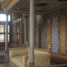 Picture - Detail of the Sultan's throne in the Imperial Hall in Topkapi Palace in Istanbul.