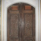 Picture - Carved wooden door in the Topkapi Palace in Istanbul.
