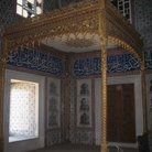 Picture - Gold canopy in the Topkapi Palace in Istanbul.