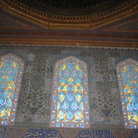 Picture - Beautiful stained glass windows in the Topkapi Palace in Istanbul.