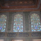 Picture - Stained glass windows and painted ceilings in the Topkapi Palace in Istanbul.