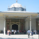 Picture - Tourists outside the Gate of Felicity in Topkapi Palace in Istanbul.