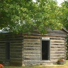 Picture - Log cabin Town Hall at Cannonsburgh Village, Murfreesboro.