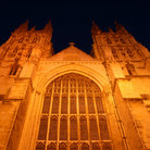 Picture - The Canterbury Cathedral at night.