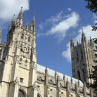 Picture - Twin towers of Canterbury Cathedral.