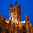 Picture - Canterbury Cathedral at night.