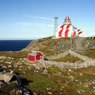 Picture - The striped lighthouse at Cape Bonavista.