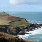 Picture - Cape Cornwall and the sentinel overlooking the ocean.
