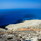 Picture - View over the barren landscape of Cape Greca, Agia Napa.
