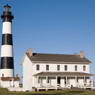 Picture - Bodie Island Lighthouse and keepers house on Hatteras Island, North Carolina.