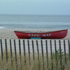 Picture - Boat on the beach in Cape May.