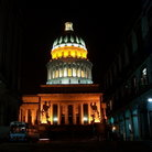 Picture - Capitol at night in Havana.