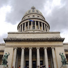 Picture - Entrance of the Capitol building in Havana.