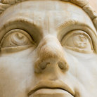 Picture - Head of emperor Constantine at the Capitoline Museum in Rome.