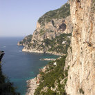 Picture - Cliffs along the coast of Capri.