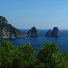 Picture - View of the Isle of Capri.
