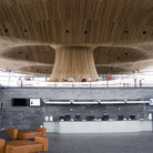 Picture - The Welsh Assembly building in Cardiff Bay.