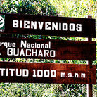 Picture - Welcome sign greets visitors to Parque Nacional Guacharo.