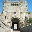 Picture - Entering the Carisbrooke Castle in Newport.