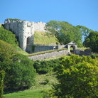 Picture - Carisbrooke Castle, built in the 11th century on Isle of Wight.