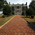 Picture - Brick pathway to Carnton Plantation Mansion near Franklin, Tennessee.