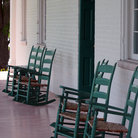 Picture - Rocking chairs on the front porch of Carnton Mansion, Franklin.