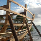 Picture - Frame of a hand made boat on Carriacou.