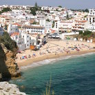 Picture - The beach and buildings at Carvoeiro.