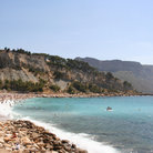 Picture - The beach front at the town of Cassis.