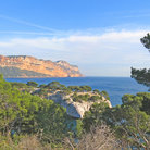 Picture - The cliffs near Cassis.