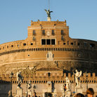Picture - Sculptures in front of the Castel Sant'Angelo in Rome.