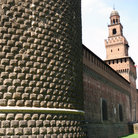 Picture - Detail of the Castello Sforzesco in Milan.