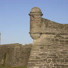 Picture - Corner towers of the Castillo de San Marcos National Monument in St. Augustine.