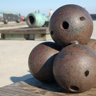 Picture - Four cannon balls at Castillo de San Marcos National Monument, St Augustine.