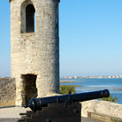 Picture - Canon and tower at Castillo de San Marcos National Monument, St Augustine.